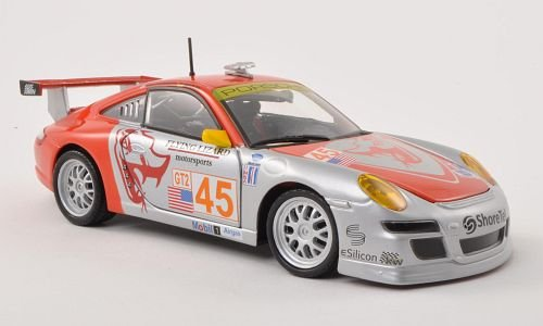 Porsche 911 (997) GT3 RSR, No.45, Flying Lizard Motorsports, ALMS , Model Car, Ready-made, Bburago 1:24