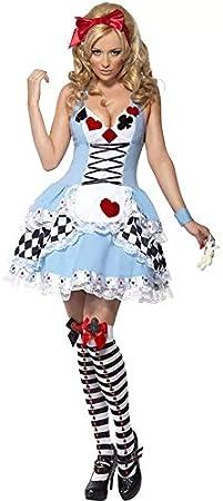 thematys® Alicia en el país de Las Maravillas de la Princesa Juego de Cartas de Damas - Conjunto de Disfraces Carnaval y Cosplay - 3 tamaños Diferentes (M): Amazon.es: Productos para mascotas