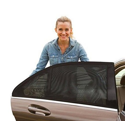 E-Bro 2PCS Universal Fit Slip On Stretchable Mesh Protective Side Window Car Sunshade 5559035138