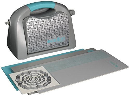 Die Systems Cutting (Evolution Advanced Die-Cutting and Embossing Machine by We R Memory Keepers | includes cutting/embossing tool, a 6 x 13-inch cutting and embossing platform, one self-healing mat and bonus nesting die)