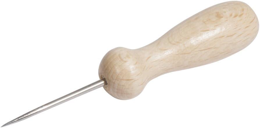 Rayher Aguja para perforar, Natural, barnizada, Bolsa 1 Pieza, 8,3cm