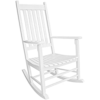 Amazon Com White Porch Rocking Chair Made Of Sturdy