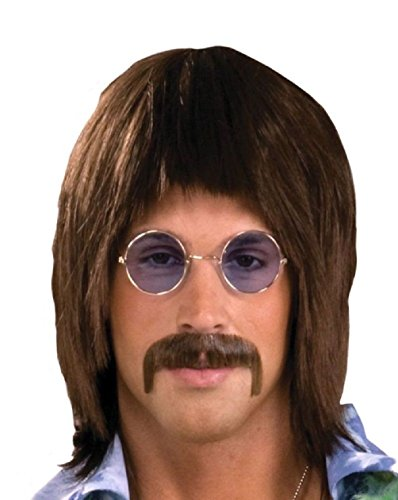 Beatle Singer Brown Wig 60s Hippie Sonny Retro Halloween Costume Accessory Short - 60s Singer Adult Costumes