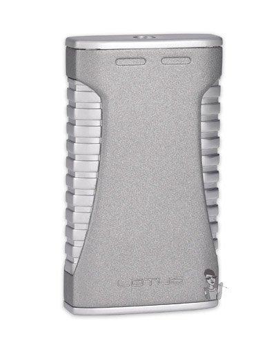 (Lotus L40 Torch Flame Lighter Satin Silver)
