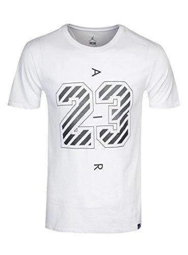NIKE Air Jordan Men's Dri-Fit Casual Knitted T-Shirts 843131-100 (XL) by NIKE