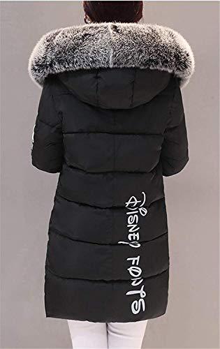 Doudoune paissir Mode Manches Femme De Bonne avec Hiver Grande Schwarz Manteau Outwear Qualit Elgante Capuchon Parka Coat Warm breal Longues Taille Fourrure Longues Doudoune zv5xzwr7
