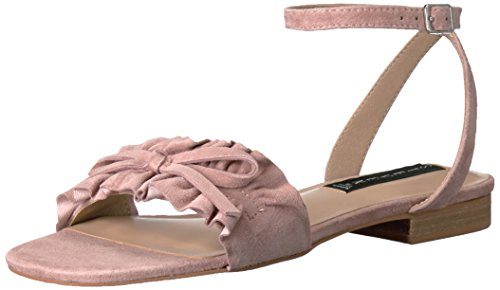 Steven Sandals Toe Open (STEVEN by Steve Madden Women's Cassiel Flat Sandal, Blush Suede, 8.5 M US)