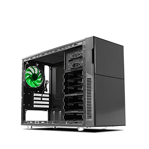 Deep Silence 4 Mini Tower M-ATX Case for Compact PC with Space For Full Size GPU, Black