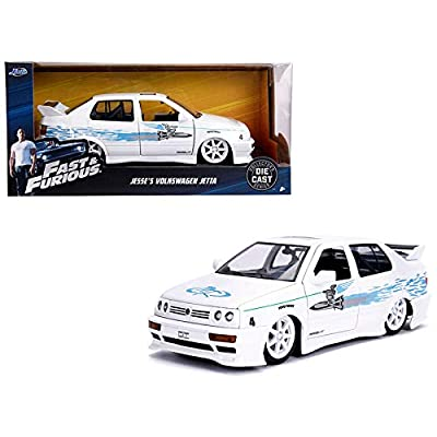 New DIECAST Toys CAR JADA 1:24 W/B - Fast & Furious - Jesse's Volkswagen Jetta (White) 99591-4: Toys & Games