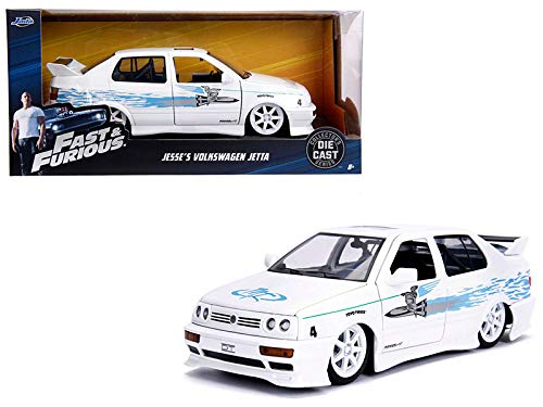 New DIECAST Toys CAR JADA 1:24 W/B - Fast & Furious - Jesse's Volkswagen Jetta (White) 99591-4 (The Fast And The Furious 4 Cast)