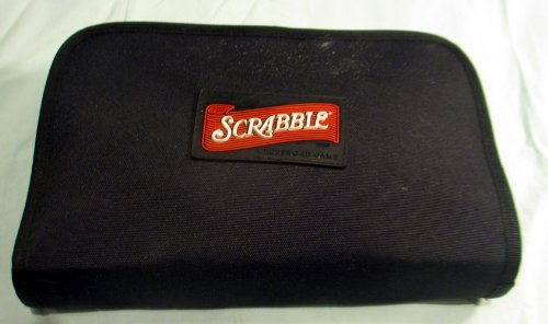 Scrabble Crossword Game Folio Travel Edition - Includes Zippered Storage Case