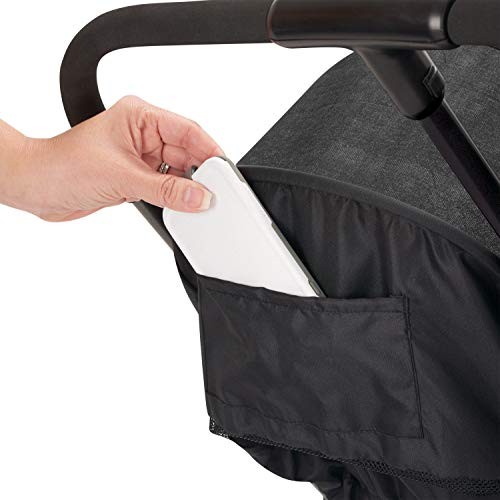 41UcU0w WcL - Evenflo Aero2 Ultra-Lightweight Double Strollers, Compact, Self-Standing Folding Design, Shopping Basket Single-Child Mode, Seatback Storage Pocket, 2 Mesh In-Seat Pockets, 50-lb Per Seat, Osprey Gray