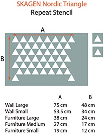 Petit Skagen Triangles Wall Stencil for Painting