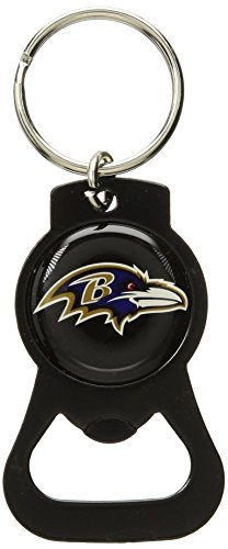 aminco NFL Baltimore Ravens Blackout Series Bottle Opener Keychain