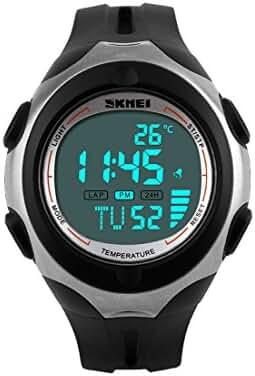 Manner 50M Waterproof LCD Digital Boys Teenager Multifunctional Military Sports Watch
