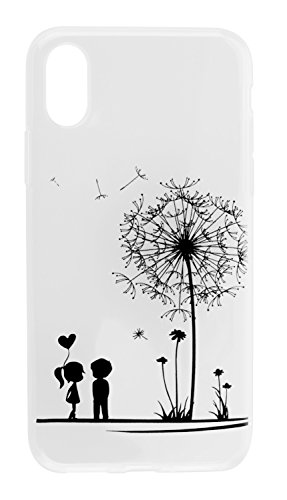 yayago Schutzhülle für Apple iPhone 8 Plus Hülle Ornament Motiv Love Tattoo Transparent