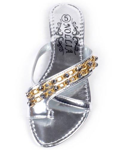 Zero Mystique Sandalo Open Toe Argento