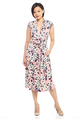 London Times Women's Melody Wrap 12 Pink Multi