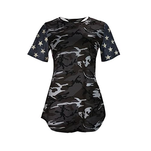 Amazon.com : kaifongfu Womens T-Shirt, Clearance Sale Ladies Camouflage Print American Flag Sexy Short Sleeve Tops Blouse T-Shirt Tee : Sports & Outdoors