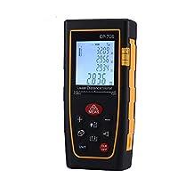 Suntime 70M Télémètre Laser Numérique Portable Precision Ecart 0.5mm Mètre Laser Mesure de Distance Professionnel avec LCD Rétro-éclairage