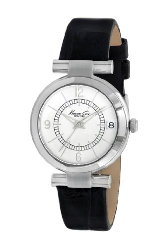 Kenneth Cole New York Women's 'Classic' Quartz Stainless Steel and Leather Dress Watch, Color:Black (Model: KC2746