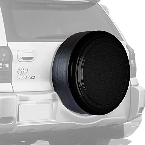 "Boomerang リジッドタイヤカバー トヨタRAV4用 - (ハードプラスチック面&ビニールバンド) - ブラックテクスチャ 28"" NEW-RG-RAV28"