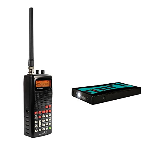 Whistler KITWHIWS11JS180 Analog Handheld Radio Scanner and Safe Start Mini Portable Jump Starter Bundle, 2 Pack