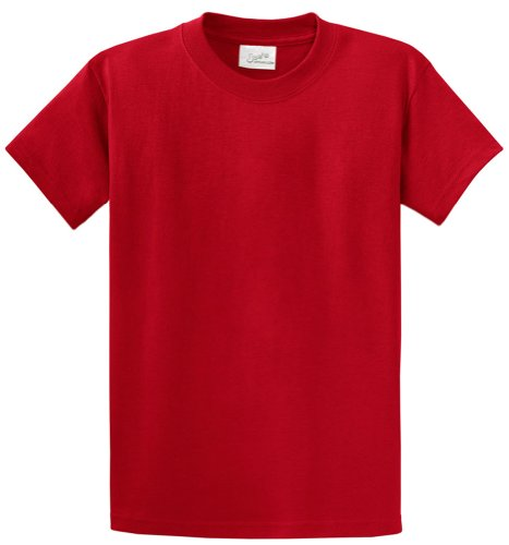 Joe's USA tm - Youth Heavyweight Cotton Short Sleeve T-Shirt S-RED