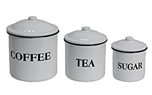 Farmhouse Enamel Canister Set