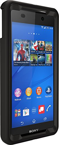 OtterBox Defender Case for Sony Xperia Z3V - Retail Packaging - Black (Black/Black) (Sony Z3v Case)