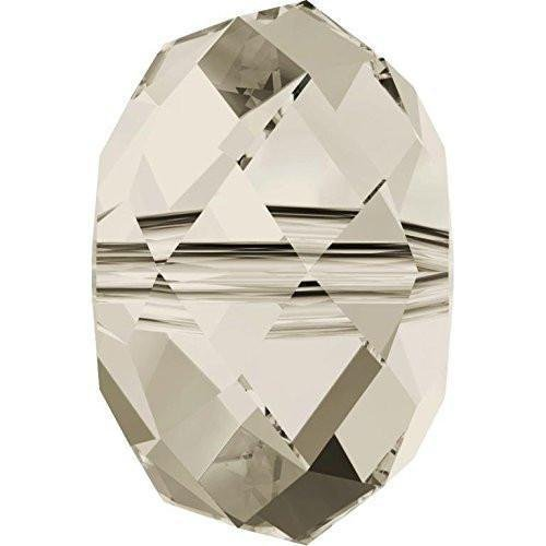 Shade 12 Silver Crystal - 5040 Swarovski Crystal Beads Briolette 12-18mm | Crystal Silver Shade | 12mm - Pack of 144 (Wholesale) | Small & Wholesale Packs