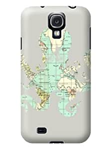 Wholesale TPU Hard Back Cover Case for Samsung Galaxy S4 Octopus Shape Map