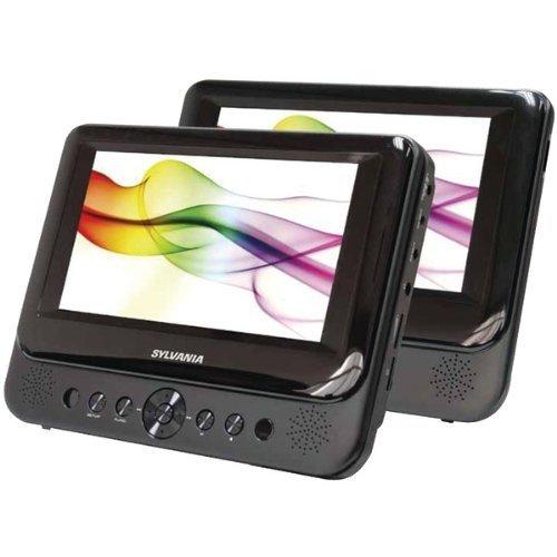 """Sylvania SDVD8737 7"""" Dual Screen Portable DVD Player"""