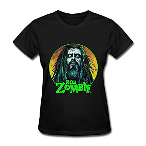 Women's Rob Zombie White Zombie Screw Neck Tshirt Size L Black (Educated Horses Vinyl)
