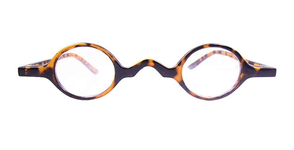 Loovit Small Round Retro Reading Glasses Mens Womens Spring Hinge Readers