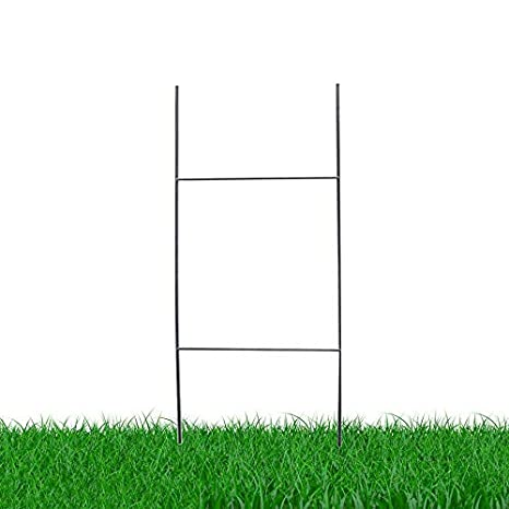 Yard Sign Wire Stakes | Amazon Com Mtb H Frame Wire Stakes 30 X10 Pkg Of 10 9ga Metal