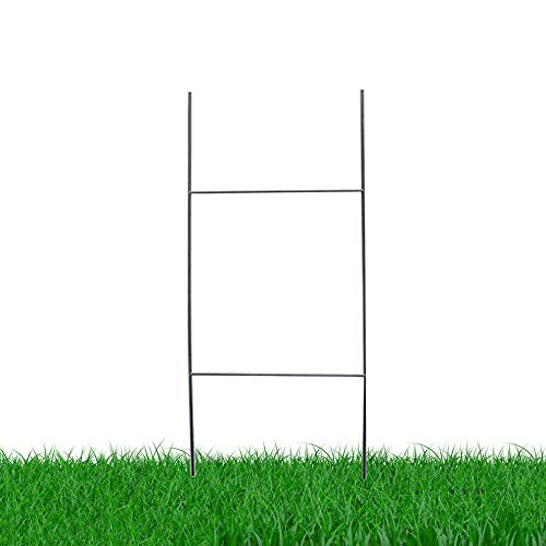 MTB H Frame Wire Stakes 30x10 (Pkg of 10) 9ga Metal -Yard Sign Stakes for Advertising Board,Realestate,Commercial Campaign,Yard Stakes for Signs,Wire Stakes for Yard Signs