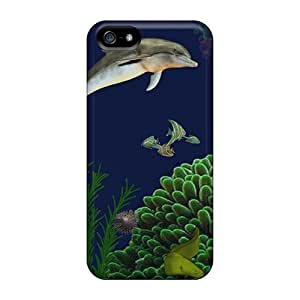 Premium Durable Under The Surface Fashion Tpu Iphone 5/5s Protective Case Cover