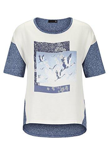 T-Shirt mit asymmetrischen Schnitt und Print
