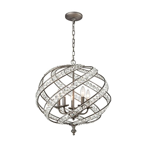 Alumbrada Collection Renaissance 5 Light Chandelier In Weathered Zinc