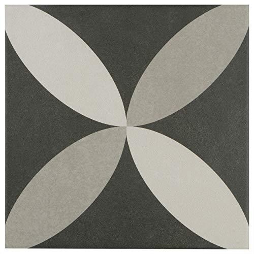 Floor Pattern Ceramic (SomerTile FRC8TWEP Fifties Ceramic Floor and Wall Tile, 7.75