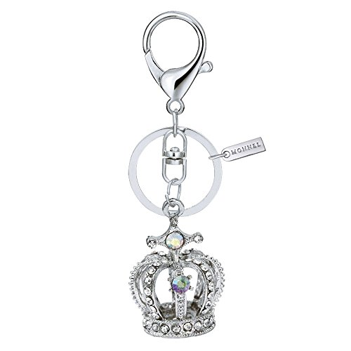 (Bling Crystal 3D Crown Design Keychain Key Ring with Pouch Bag MZ850-1)