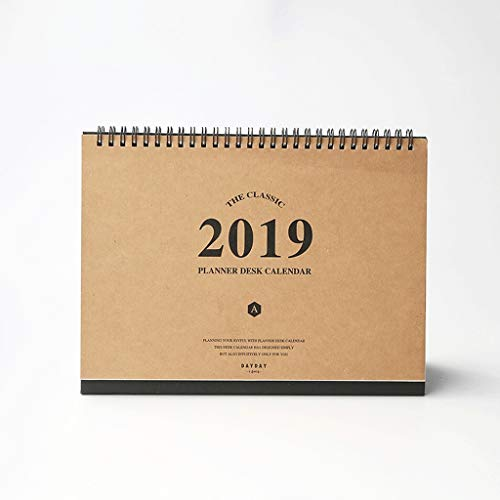 2019 Creative New Year Calendar Sleek Minimalist Cute Mini Desk Calendar Retro Kraft Calendar, Custom Desk Calendar (Color : ()