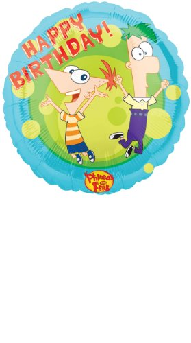 "Anagram International Phineas and Ferb Happy Birthday Foil Balloon, 18"", Multicolor"