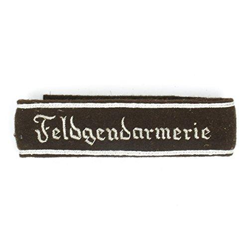 German WWII Military Wool Uniform Cuff Title- Feldgendarmerie