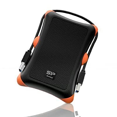 Silicon Power 1TB Rugged Portable External Hard Drive Armor A30, Shockproof USB 3.0 for PC, Mac, Xbox and PS4, Black by Silicon Power