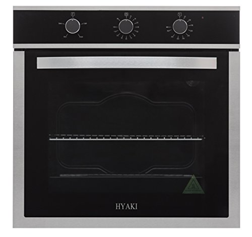 "Controls 20 Amp 4 Prong - 24"" Hyaki Modern Style Stainless Steel Built in Electric Wall Oven 220V HYK-24WOX03"
