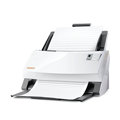 Ambir ImageScan Pro 960u (DS960-NP) 60ppm High-Speed Document Scanner with Full Version of Nuance Power PDF Software (High Speed Document Scanner)