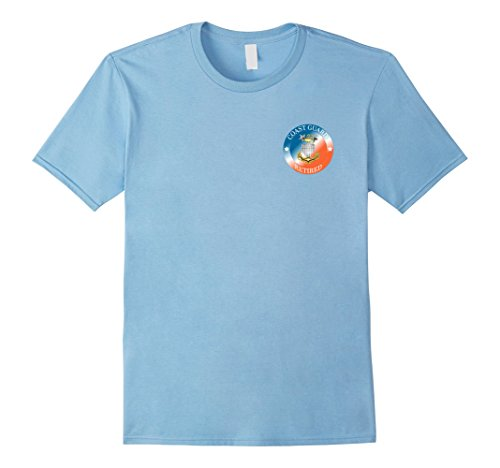 Mens COAST GUARD MASTER CHIEF MCPO RETIRED TEE Large Baby (Blue Master Chief)