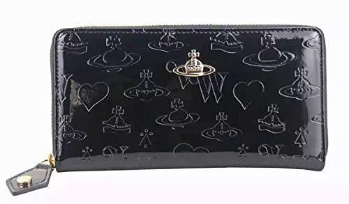 83591ba203f5 ヴィヴィアンウエストウッド Vivienne Westwoodファスナー長財布 ブラック レディース かわいい ギフト贈り物